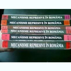 MECANISME REPRESIVE IN ROMANIA - COORDONATOR OCTAVIAN ROSKE 6 VOLUME, CU DEDICATIA COORDONATORULUI, PE PRIMUL VOLUM
