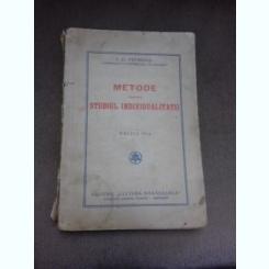 Metode pentru studiul individualitatii - I.C. Petrescu