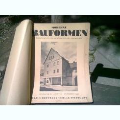 MODERN BAUFORMEN (REVISTA LUNARA DE ARHITECTURA, IN LIMBA GERMANA)  4 NUMERE