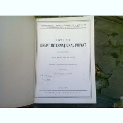 NOTE DE DREPT INTERNATIONAL PRIVAT, DUPA PRELEGERILE LUI IORGU RADU