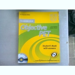 OBJECTIVE PET. STUDENT'S BOOK WITH ANSWERS - LOUISE HASHEMI  (NU CONTINE CD-UL)