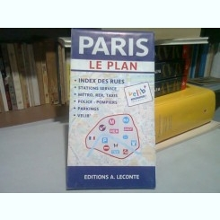 PARIS - HARTA TURISTICA, PLAN ORAS, INDEX