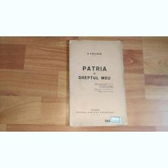 PATRIA SI DREPTUL MEU - A. AXELRAD