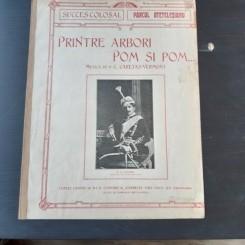 PRINTRE ARBORI POM SI POM, CUPLET, MUZICA DE C. CARETAS VERMONT