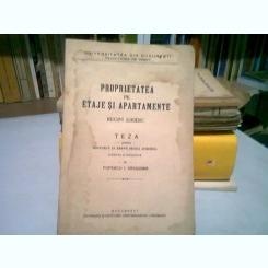 PROPRIETATEA PE ETAJE SI APARTAMENTE - POPESCU I. DRAGOMIR  (TEZA DE DOCTORAT)