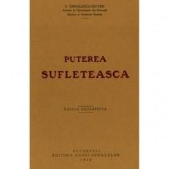 PUTEREA SUFLETEASCA - C. RADULESCU MOTRU  (FACSIMIL)