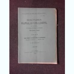 REACTIUNEA AURULUI COLLOIDAL IN LICHIDUL CEFALO-RAHIDIAN, REACTIUNEA LANGE - I.M. BELLU  TEZA DE DOCTORAT, CU DEDICATIA AUTORULUI