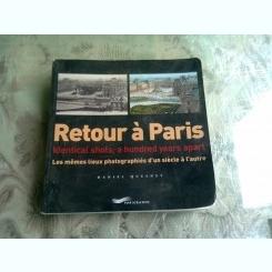 RETOUR A PARIS - DANIEL QUESNEY   (CARTE FOTOGRAFIE, TEXT IN LIMBA FRANCEZA)