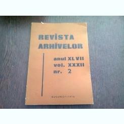 REVISTA ARHIVELOR NR.2/1970