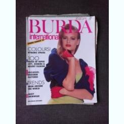 REVISTA BURDA INTERNATIONAL NR.1/1989, TEXT IN LIMBA ENGLEZA