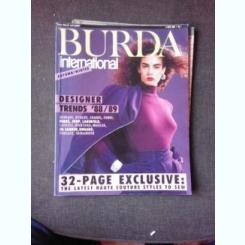 REVISTA BURDA INTERNATIONAL TOAMNA IARNA, 1988/1989, TEXT IN LIMBA ENGLEZA