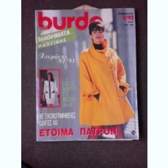 REVISTA BURDA NR.4/1992, TEXT IN LIMBA GREACA