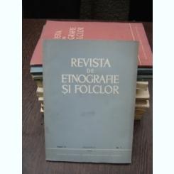 REVISTA DE ETNOGRAFIE SI FOLCLOR NR.1/1966