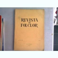 REVISTA DE ETNOGRAFIE SI FOLCLOR NR.3/1958