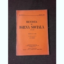 REVISTA DE IGIENA SOCIALA NR.9/1933