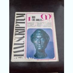 REVISTA MANUSCRIPTUM NR.1/1980