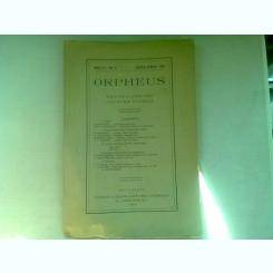 REVISTA ORPHEUS - PENTRU CULTURA CLASICA  NR.2/1926