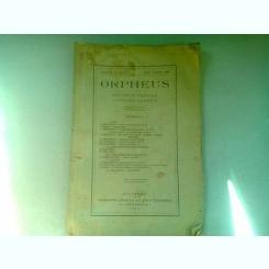 REVISTA ORPHEUS - PENTRU CULTURA CLASICA  NR.4/1925
