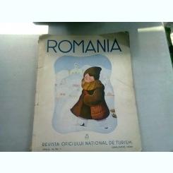 REVISTA ROMANIA NR.1/IANUARIE 1938  (REVISTA OFICIULUI NATIONAL DE TURISM)