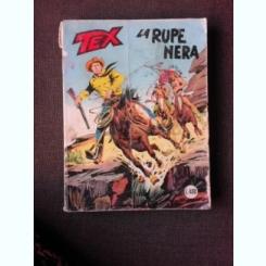 REVISTA TEX NR.206/1977, LA RUPE NERA, REVISTA CU BENZI DESENATE, TEXT IN LIMBA ITALIANA