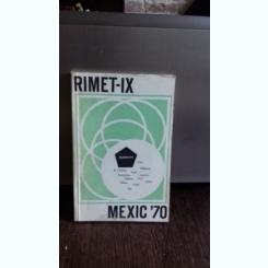 RIMET IX - MEXIC '70 - CAMPIONATELE MONDIALE DE FOTBAL