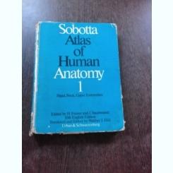 SOBOTTA, ATLAS OF HUMAN ANATOMY  VOL.I  (CARTE UIN LIMBA EMGLEZA)