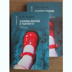 SOCIETATEA DESCHISA SI DUSMANII EI de K.R. POPPER VOL.I-II