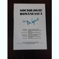 SOCIOLOGIE ROMANEASCA NR.2/1999 - D. GUSTI director fondator