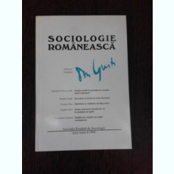 SOCIOLOGIE ROMANEASCA NR.4I/1999 - D. GUSTI director fondator