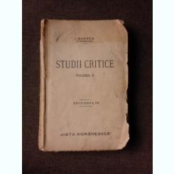STUDII CRITICE - I. GHEREA  VOL.II