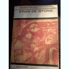 STUDII DE ISTORIE - Dimitrie Onciul