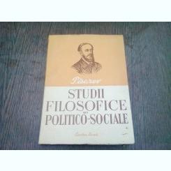 STUDII FILOSOFICE SI POLITICO-SOCIALE - PISAREV