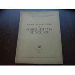 STUDII SI CERCETARI DE ISTORIE LITERARA SI FOLCLOR AN NR 2 AN XI