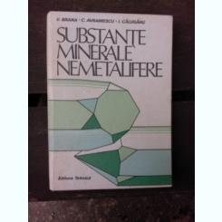 SUBSTANTE MINERALE NEMETALIFERE - V. BRANA