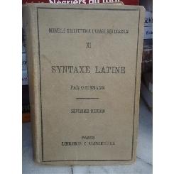 SYNTAXE LATINE , O RIEMANN, A ERNOUT (LB FRANCEZA)