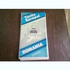 TARILE EUROPEI, ROMANIA, HARTA RUTIERA