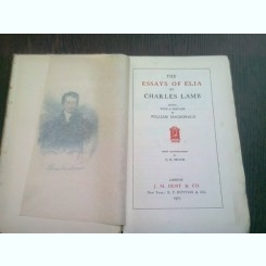 THE ESSAYS OF ELIA - CHARLES LAMB  (CARTE IN LIMBA ENGLEZA)