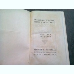 THE POETICAL WORKS OF JOHN MILTON  (CARTE IN LIMBA ENGLEZA)