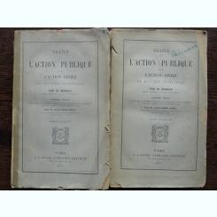 TRAITE DE L'ACTION PUBLIQUE ET DE L'ACTION CIVILE EN MATIERE CRIMINELLE - M. MANGIN  2 VOLUME  (CARTI IN LIMBA FRANCEZA)