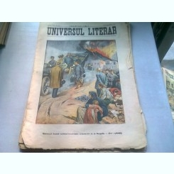 UNIVERSUL LITERAR NR.13/10 APRILIE 1906   (SUVERANII ITALIEI VIZITAND LOCALITATILE CATASTROFEI DE LA NEAPOLE)