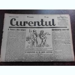 Ziarul Curentul , director Pamfil Seicaru , 5 mai 1933 , articole Nicolae Rosu,Romulus Dianu