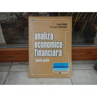 Analiza economica-financiara , Vasile Robu