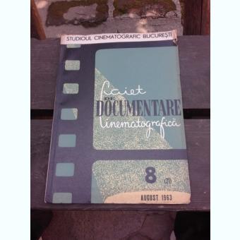 CAIET DE DOCUMENTARE CINEMATOGRAFICA NR.8/1963