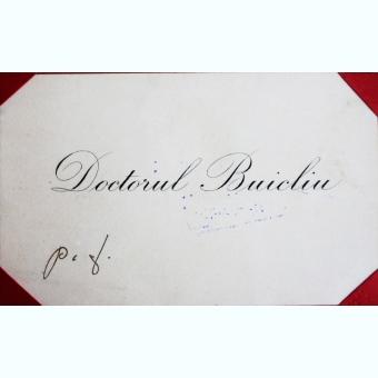 CARTE DE VIZITA A DOCTORULUI BUICLIU