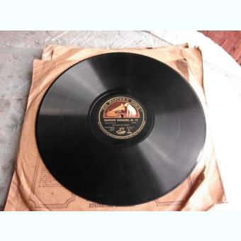 DISC DE GRAMOFON, HIS MASTER'S VOICE, RHAPSODIE HONGROISE NO.12