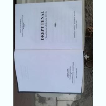 Drept penal - V.Dongoroz - 2000 (Reeditarea ediţiei din 1939)