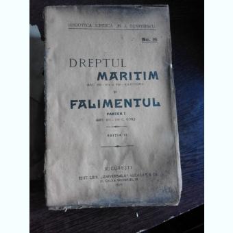 DREPTUL MARITIM SI FALIMENTUL, PARTEA I ART.695-730 C. COM.