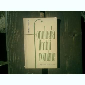 Fonologia limbii romane - Emanuel Vasiliu