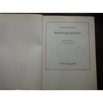 KALENDERGESCHICHTEN - JOHANN PETER HEBEL