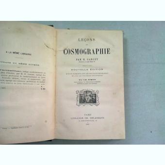 LECONS DE COSMOGRAPHIE - H. GARCET